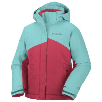 Columbia Sportswear Crash Out Jacket - Waterproof, Insulated (For Girls) in Afterglow/Clear Blue