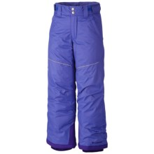 Columbia Sportswear Crushed Out II Snow Pants - Waterproof, Insulated (For Girls) in Purple Lotus - Closeouts