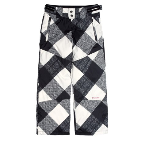 Columbia Sportswear Crushed Out Snow Pants - Insulated (For Girls) in Black Gingham Print