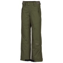 Columbia Sportswear Crushed Out Snow Pants - Insulated (For Little Girls) in Surplus Green - Closeouts
