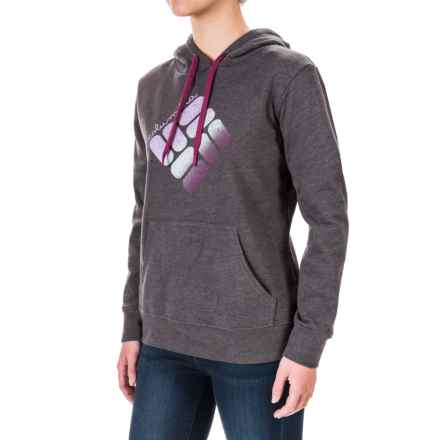 Columbia Sportswear CSC Logo Hoodie (For Women) in Charcoal Heather, Plum - Closeouts