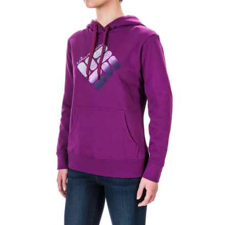 Columbia Sportswear CSC Logo Hoodie (For Women) in Plum, Rosewater - Closeouts