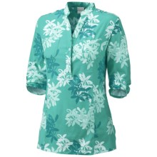 Columbia Sportswear Danforth Cay Shirt - 3/4 Sleeve (For Women) in Oceanic/Jacquard - Closeouts