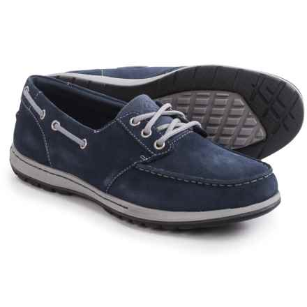 Columbia Sportswear Davenport Boat Shoes - Suede (For Men) in Collegiate Navy/Light Grey - Closeouts