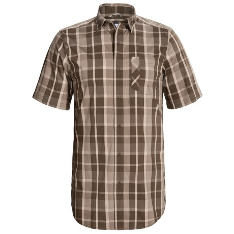Columbia Sportswear Decoy Rock Shirt - Short Sleeve (For Tall Men) in Camo Brown Check