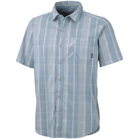 Columbia Sportswear Decoy Rock Shirt - Short Sleeve (For Tall Men) in Stone Blue Check