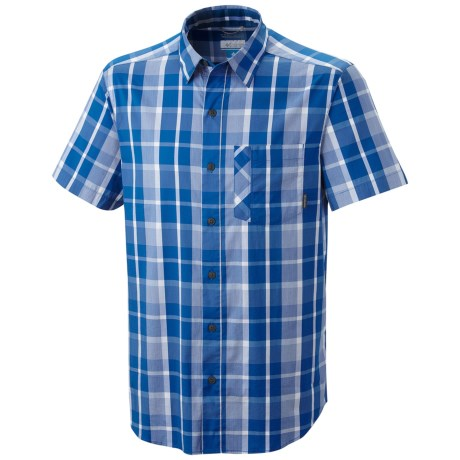 Columbia Sportswear Decoy Rock Shirt - Short Sleeve (For Tall Men) in Windswept Check