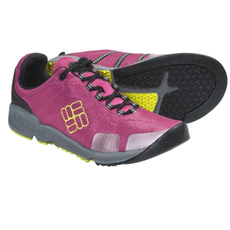 Columbia Sportswear Descender Multi-Sport Trail Shoes (For Women) in Fuchsia Rose/Chartreuse