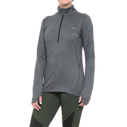 Columbia Sportswear Diamond Peak Omni-Wick® Shirt - Zip Neck, Long Sleeve (For Women) in Black Heather