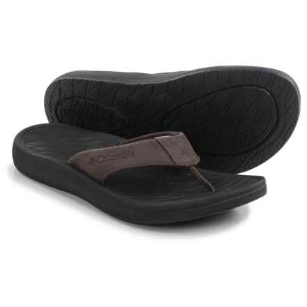 Columbia Sportswear Dockflip II Flip-Flops (For Men) in Cordovan/Black - Closeouts