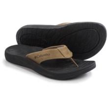 Columbia Sportswear Dockflip II Flip-Flops (For Men) in Flax/Black - Closeouts