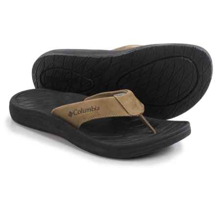 Columbia Sportswear Dockflip II Flip-Flops (For Men) in Flax/Black - Closeouts
