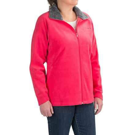 Columbia Sportswear Dotswarm II Omni-Heat Fleece Jacket (For Plus Size Women) in Punch Pink - Closeouts