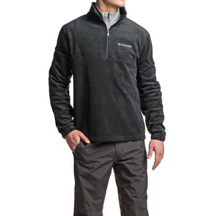 Columbia Sportswear Dotswarm Omni-Heat® Fleece Jacket - Zip Neck (For Men) in Black - Closeouts