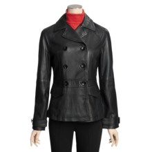 Columbia Sportswear Double-Breasted Jacket - Leather (For Women) in Black - Closeouts