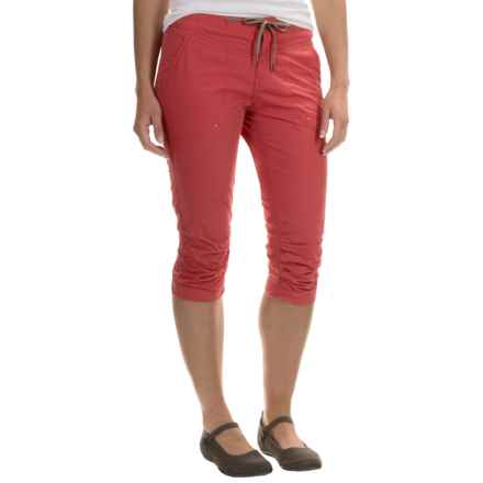 Columbia Sportswear Down the Path Capris (For Women) in Sunset Red - Closeouts