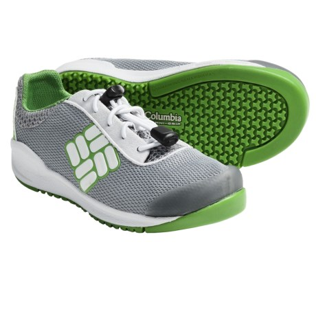 Columbia Sportswear Drainmaker Water Shoes (For Kids) in Cool Grey/Nuclear