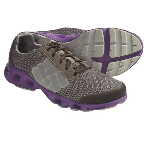 Columbia Sportswear Drainmaker Water Shoes (For Women) in Cool Grey/Chartreuse