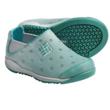 Columbia Sportswear Drainmaker Water Shoes - Slip-Ons (For Toddlers) in Pacific Rim/White - Closeouts
