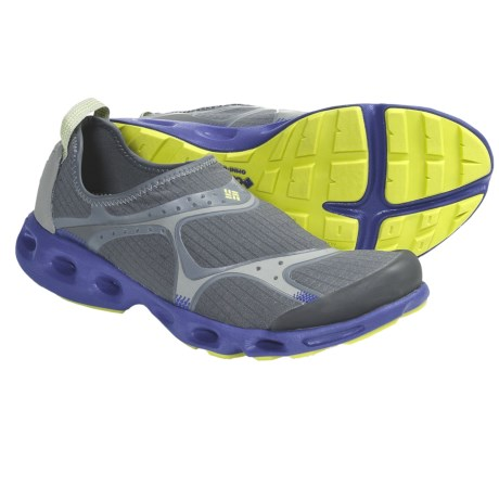 Columbia Sportswear Drainsock Water Shoes - Slip-Ons (For Women) in Charcoal/Chartreuse