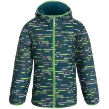 Columbia Sportswear Dual Front Omni Shield Jacket - Reversible, Insulated (For Little and Big Boys) in Deep Wave Print - Closeouts