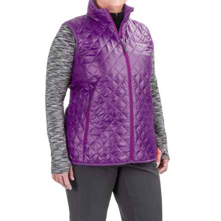 Columbia Sportswear Dualistic Omni-Heat® Vest - Insulated (For Plus Size Women) in Iris Glow/Bright Plum - Closeouts