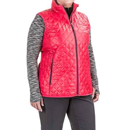 Columbia Sportswear Dualistic Omni-Heat® Vest - Insulated (For Plus Size Women) in Punch Pink/Dusty Purple - Closeouts