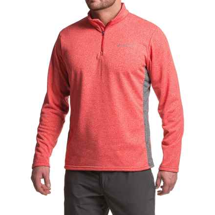 Columbia Sportswear Dunsire Point Fleece Sweater - Zip Neck (For Men) in Mountain Red/Graphite - Closeouts