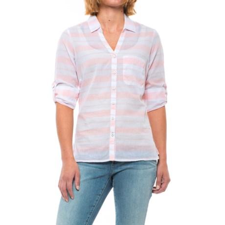 Columbia Sportswear Early Tide Shirt - Button Front, Long Sleeve (For Women) in Lychee Stripe