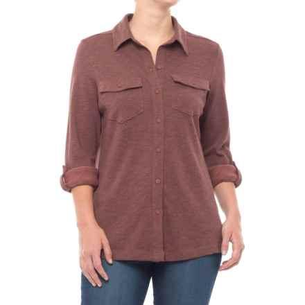 Columbia Sportswear Easygoing Button-Down Shirt - Long Sleeve (For Women) in Bloodstone