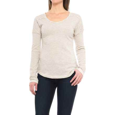 Columbia Sportswear Easygoing Striped T-Shirt - Long Sleeve (For Women) in Chalk