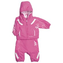 Columbia Sportswear Edie Princess Jacket and Bib Set - Insulated (For Infant Girls) in Pink Phlox - Closeouts