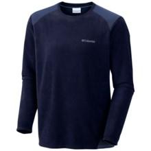 Columbia Sportswear Elevator Shaft Hybrid Fleece Shirt - Long Sleeve (For Men) in Collegiate Navy - Closeouts
