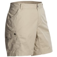 Columbia Sportswear Elkhorn II Shorts - UPF 50, Cotton Twill (For Plus Size Women) in Fossil - Closeouts