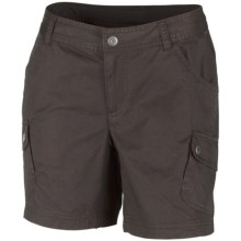 Columbia Sportswear Elkhorn II Shorts - UPF 50, Cotton Twill (For Plus Size Women) in Tar - Closeouts