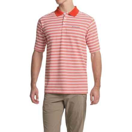 Columbia Sportswear Elm Creek Polo Shirt - UPF 15, Short Sleeve (For Men) in Super Sonic Stripe - Closeouts