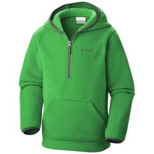 Columbia Sportswear Elm Lake Fleece Hoodie - Zip Neck (For Little and Big Kids) in Fuse Green/Grill - Closeouts
