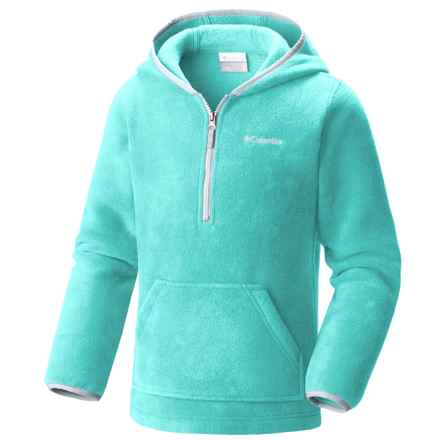 Columbia Sportswear Elm Lake Fleece Hoodie - Zip Neck (For Little and Big Kids) in Miami/Cirrus Grey - Closeouts