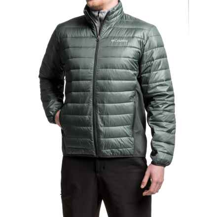 Columbia Sportswear Elm Ridge Hybrid Puffer Jacket - Insulated (For Men) in Graphite/Black - Closeouts