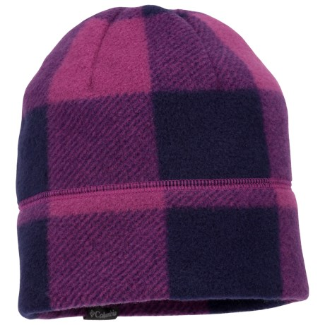 Columbia Sportswear Enchanted Forest Beanie Hat - Fleece (For Kids) in Raspberry/Iris Glow Buffalo