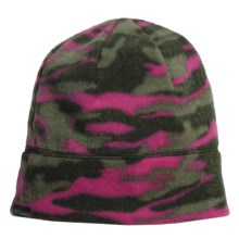 Columbia Sportswear Enchanted Forest Beanie Hat - Fleece (For Kids) in Surplus Green Camo - Closeouts