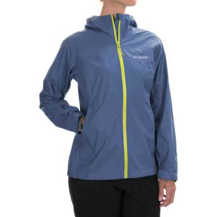 Columbia Sportswear EvaPOURation Omni-Tech® Jacket - Waterproof (For Women) in Bluebell - Closeouts