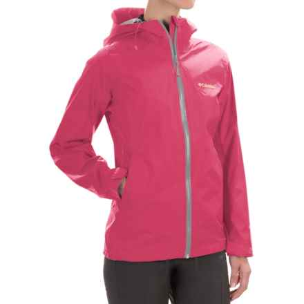 Columbia Sportswear EvaPOURation Omni-Tech® Jacket - Waterproof (For Women) in Bright Geranium - Closeouts