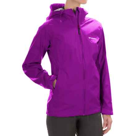 Columbia Sportswear EvaPOURation Omni-Tech® Jacket - Waterproof (For Women) in Bright Plum - Closeouts