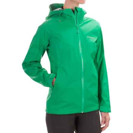 Columbia Sportswear EvaPOURation Omni-Tech® Jacket - Waterproof (For Women) in Dark Lime - Closeouts