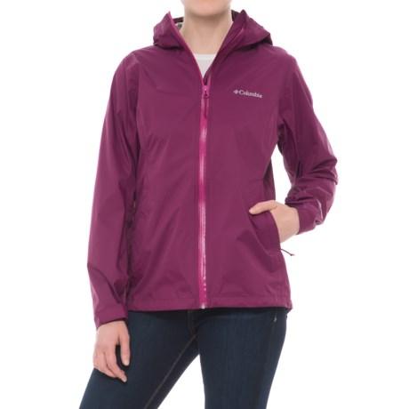 Columbia Sportswear EvaPOURation Omni-Tech® Jacket - Waterproof (For Women) in Dark Raspberry
