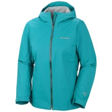 Columbia Sportswear EvaPOURation Omni-Tech® Jacket - Waterproof (For Women) in Geyser - Closeouts