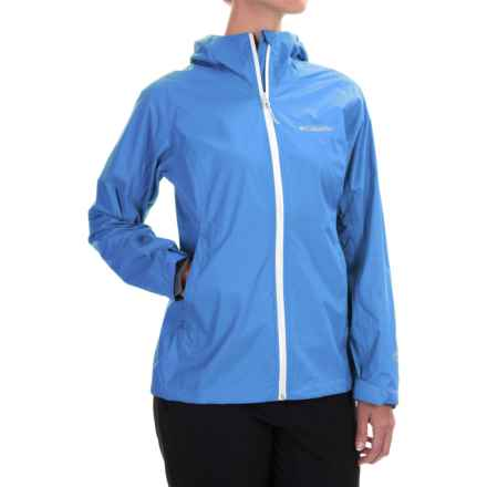 Columbia Sportswear EvaPOURation Omni-Tech® Jacket - Waterproof (For Women) in Harbor Blue - Closeouts