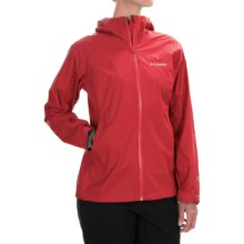 Columbia Sportswear EvaPOURation Omni-Tech® Jacket - Waterproof (For Women) in Red Hibiscus - Closeouts