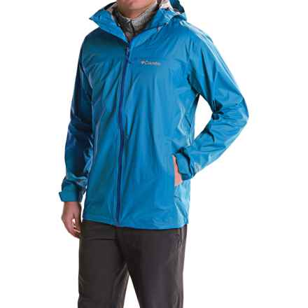 Columbia Sportswear EvaPOURation Omni-Tech® Rain Jacket - Waterproof (For Big and Tall Men) in Hyper Blue/Marine Blue - Closeouts